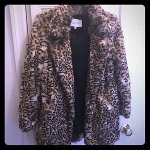 Lucy Paris Faux Fur Leopard Coat